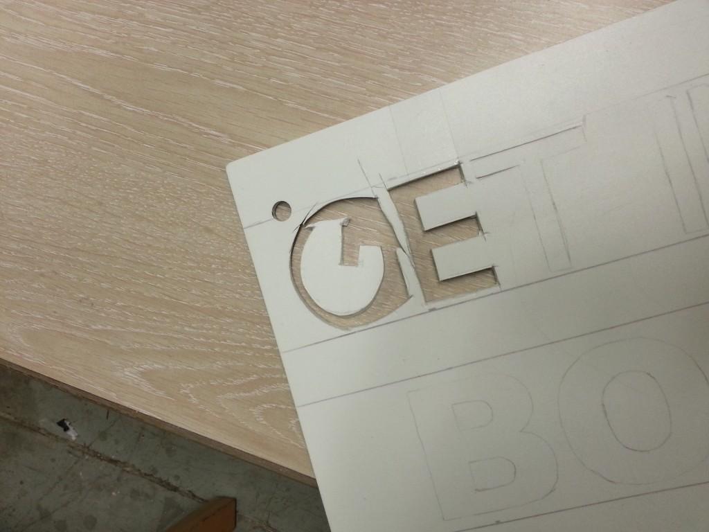 clean tagging stencil