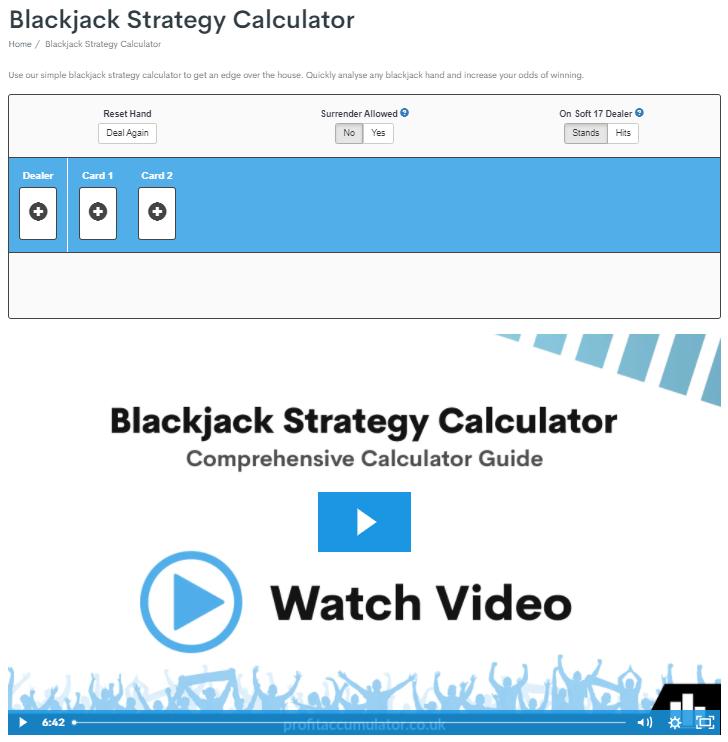 Profit Accumulator Casino Blackjack Strategy Calculator Diamond Membership