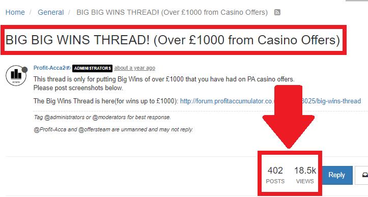 Profit Accumulator casino big big wins forum thread