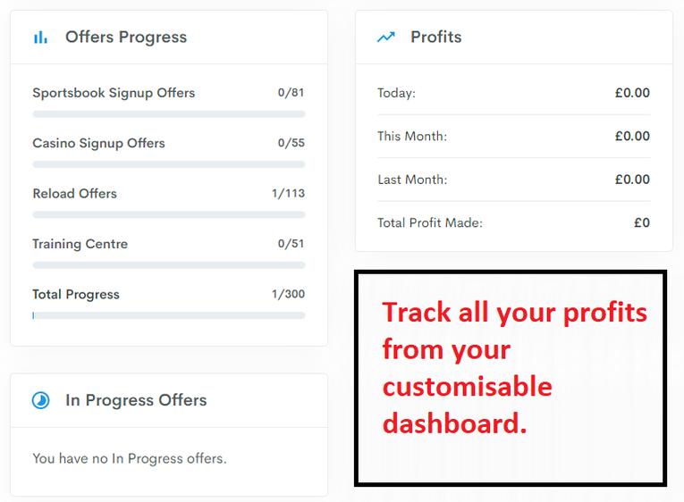 Profit Accumulator dashboard profit tracker
