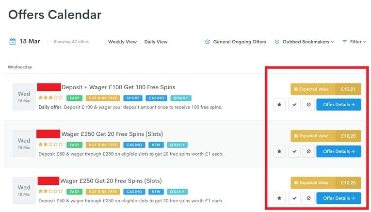 Profit Accumulator offers calendar
